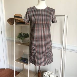Zara houndstooth short sleeve dress 1006